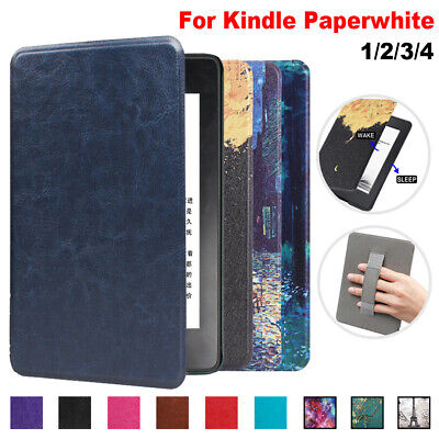 For Amazon Kindle Paperwhite 1/2/3/4 2018 Magnetic PU Leather Smart Case Cover • 6.51£