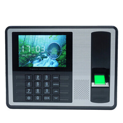 Time Recorder Clocking Attendance In USB Clock Machine Fingerprint+Password N4A1 • 42.39£