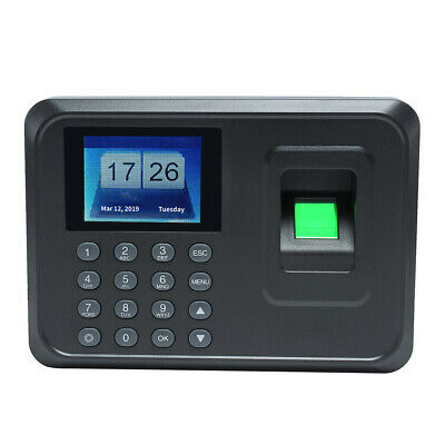 A5 Time Recorder Clocking In Clock Machine Attendance Check Fingerprint USB U2G2 • 23.82£