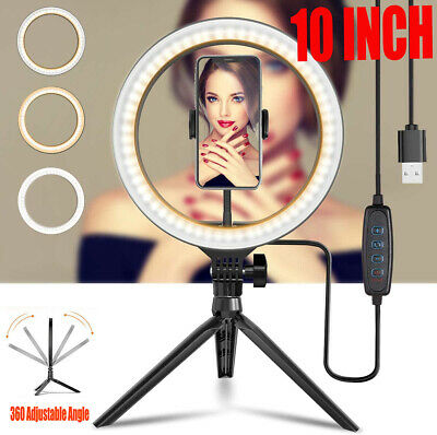 AU15.99 • Buy 10  Phone Selfie LED Ring Light With Stand For Youtube Tiktok Makeup Video Live