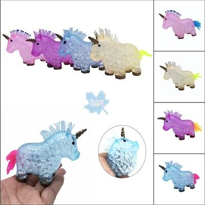 AU10.82 • Buy 1pcs Cute Crystal Unicorn Stress Ball Orbeez Squishy Squeeze Kid Toys Gift