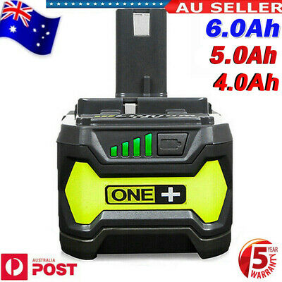 AU32.99 • Buy 18 Volt 6.0 For Ryobi One+ Plus P108 Lithium Battery RB18L50 P104 P780 RB18L40