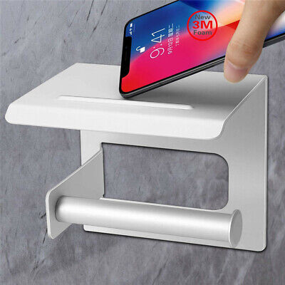 AU9.99 • Buy Self Adhesive Wall Mounted Toilet Paper Phone Holder Rack Tissue Roll Stand