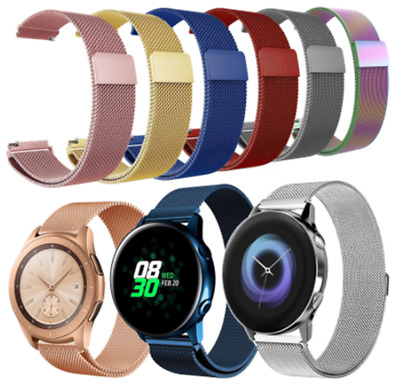 AU15.99 • Buy 20mm Milanese Strap For Samsung Galaxy Watch Active Active2 40mm 44MM Watch Band
