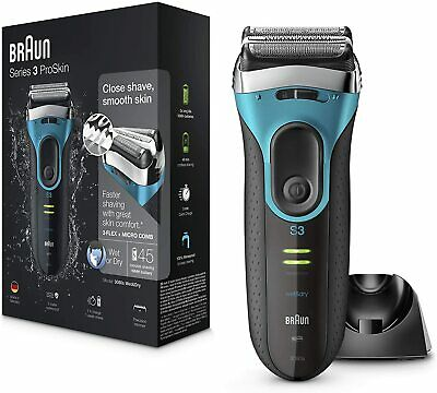 View Details Braun Series 3 ProSkin 3080s Wet And Dry Mens Electric Rechargeable Shaver Razor • 61.99£