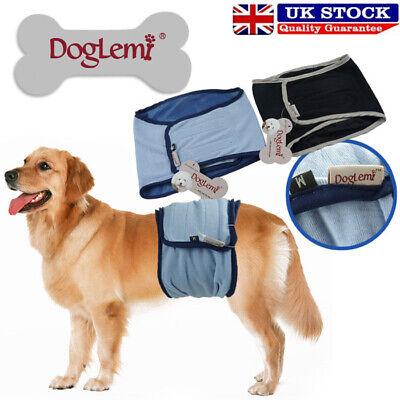 Washable Male Dog Diapers Sanitary Male Dog Protector Panties Large Pants Wrap • 7.29£