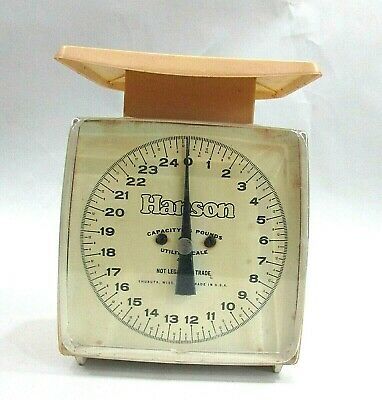 Vintage 1970's Hanson 25 Lb Old 9  Utility Scale USA FREE S/H • 18.24£