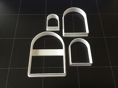 Set Of 4 Polymer Clay Cutters - Jewellery Making Arch Shape • 6.50£