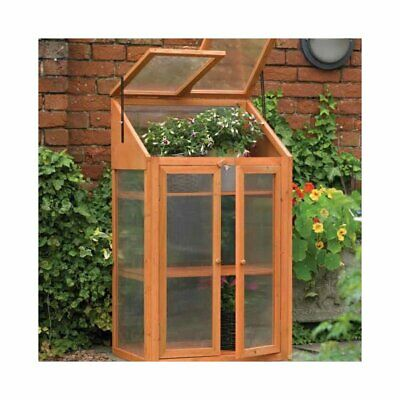 Wooden Greenhouse Cold Frame Transparent Flower Planter Growhouse 3 Tire New BS1 • 108.45£