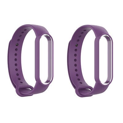 AU7.99 • Buy 2 Pack Purple Replacement Silicone Band Wristband For Xiaomi MI Band 5 New