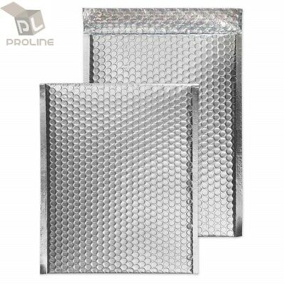 $8.95 • Buy 25 #000 Glamour Metallic Silver Poly Bubble Mailers Envelopes 4x8 Extra Wide
