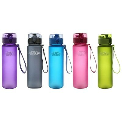 BPA Free Leak Proof Sports Water Bottle High Quality Tour Hiking Portable Hot • 6.72£