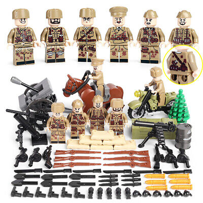 $15.99 • Buy WWII USSR Soviet Army Soldiers Minifigure Squad Military Building Blocks War Toy