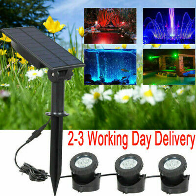 LED Solar Spot Light Color Changing Outdoor Garden Yard Lawn Lamp Waterproof New • 7.79£