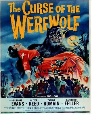AU100.32 • Buy YVONNE ROMAIN Signed Autographed THE CURSE OF THE WEREWOLF SERVANT GIRL Photo