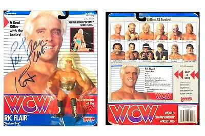 AU534.36 • Buy Wwe Wcw Ric Flair Hand Signed Autographed 1990 Galoob Toy Very Rare With Coa