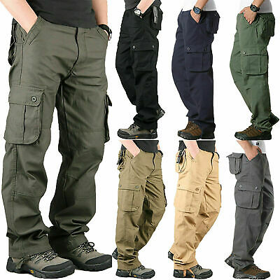 $18.99 • Buy Men's Combat Tactical Cargo Forces Work Army Pants Military Camo Trousers Pants