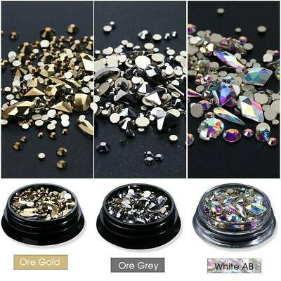 Rhinestones 3D Crystal Multi-size AB Clear Stones Gems Diy Nail Art Decoration K • 0.99£