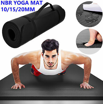 AU24.99 • Buy Thick Yoga Mat Pad 10 15 20MM Non Slip Exercise Fitness Gym Pilates NBR Durable