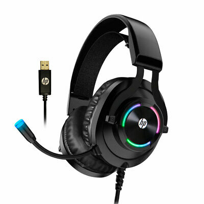 AU54.60 • Buy HP H360GS Virtual 7.1 Surround Sound Gaming Headset With RGB Noise Cancelling