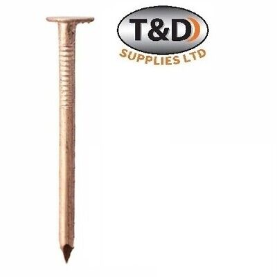 25 Copper Clout Quality Roofing Nails - 4 Sizes Tree Stump Removal • 3.85£