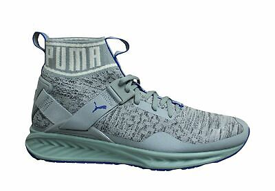 AU84.86 • Buy Puma Ignite EvoKnit Grey Blue Lace Up Mens Slip On Running Trainers 189697 12