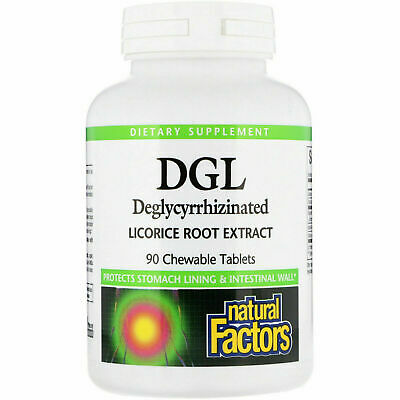 Natural Factors DGL Deglycyrrhizinated Licorice Root Extract 90 Chewable Tabs • 13.78£