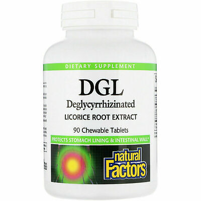 Natural Factors DGL Deglycyrrhizinated Licorice Root Extract 90 Chewable Tabs • 14.95£