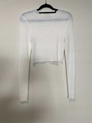 AU40 • Buy Zulu And Zephyr - Textured Long Sleeve Knit Crop SIZE AU 8