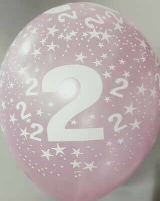 AU7.95 • Buy 2nd Birthday Party Supplies Pearl Pink Latex Balloons (Pk.10 / 28 Cm)