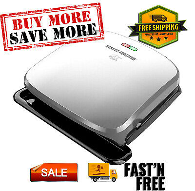 4-Serving Removable Plate Grill And Panini Press, Platinum, Easy Clean • 36.03£