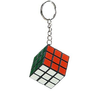 3cm Mini Rubiks Cube Puzzle Toy Keyring - Mind Teaser Kids Gift Party Bag Toy • 1.99£