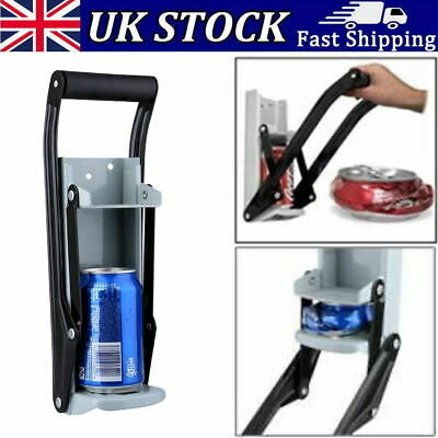 £7.75 • Buy Large 16oz Beer Tin Can Crusher Wall Mounted Recycling Tool Bottle Opener 500ml