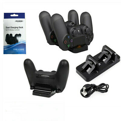 AU13.99 • Buy PlayStation PS4 Controller Charger Dock Station Dual USB Stand Fast Charging AU
