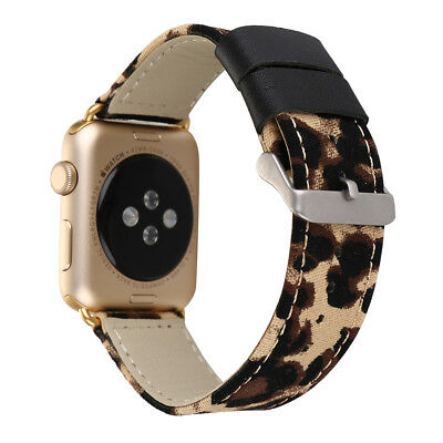 AU18.99 • Buy Leopard Print Leather Wrist Band Strap For Apple Watch 5 4 3 2 1 42/44mm 38/40MM