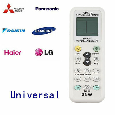 AU9.99 • Buy Universal A/C Air Conditioner Remote Control Air Con ALL MAJOR BRANDS LCD DGS