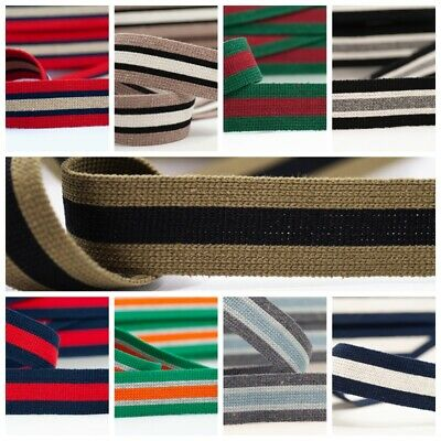 Webbing 40mm, Bag Straps, Belts, Cotton/acrylic Mix, Sold By Metre • 1.95£