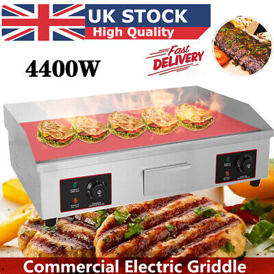 4400W Commercial Electric Griddle Hotplate Flat Grill Hot Plate Large Countertop • 139.86£