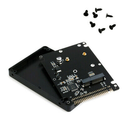 MSATA To 2.5  IDE HDD SSD MSATA To PATA Adapter Converter Card 44PIN With Case • 7.80£