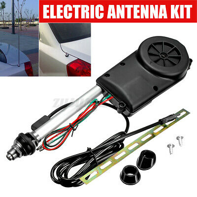 12V Universal Electric Automatic Wing Mount AM/FM Car Trunk Radio Aerial Antenna • 16.99£