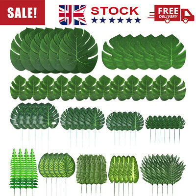 Tropical Plant Artificial Palm Garland For Hawaiian Luau BBQ Jungle Themed Party • 14.99£