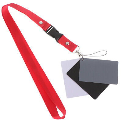 3 In 1 White Black 18% Gray Color Balance Cards Digital Grey Card & Neck Styu • 3.31£