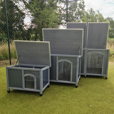 £119.99 • Buy Dog Kennel Plastic And Wood Insulated Twin Panel Dog Shelter Sizes M L Xl