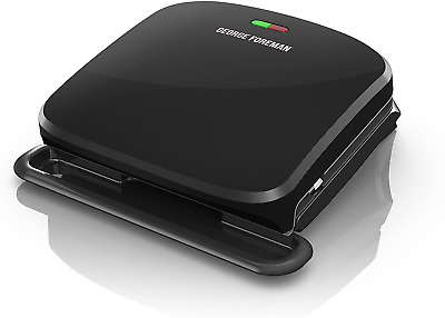 Or Foreman 4-Serving Removable Plate Grill And Panini Press, Black, Grp360B • 33.35£