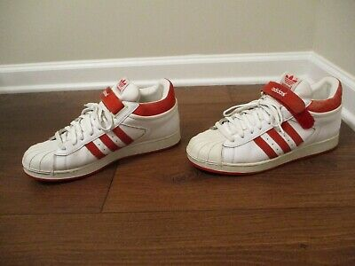 £29.25 • Buy Classic 2001 Used Worn Size 10.5 Adidas Proshell SD Shoes White & Red