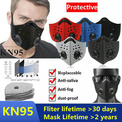 $ CDN10.40 • Buy Repeatable Face Mask Cover W/Exchange Valves & Lot Activated Carbon Filters Pads
