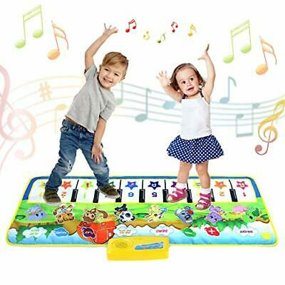 Kids Piano Mat,Toddlers Kids Toys Age 1 2 3 4 5 Year Old Girls Boys Music Dance • 23.99£