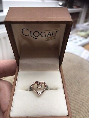 Clogau Rose Gold And Silver Heart Shaped Ring Size N • 50£