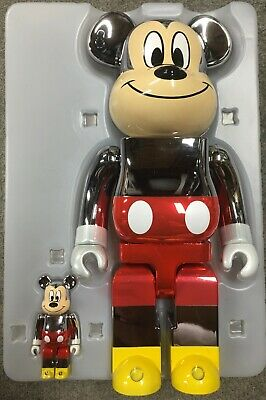 $699.99 • Buy Medicom Fragment Mickey Mouse 90th Anniversary D23 400/100% Bearbrick In Hand