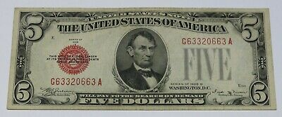 $ CDN7.49 • Buy GEM UNC 1928-D $5 Five Dollars United States Note Red Seal